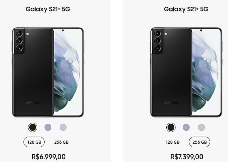 Preço Galaxy S21 Plus no Brasil