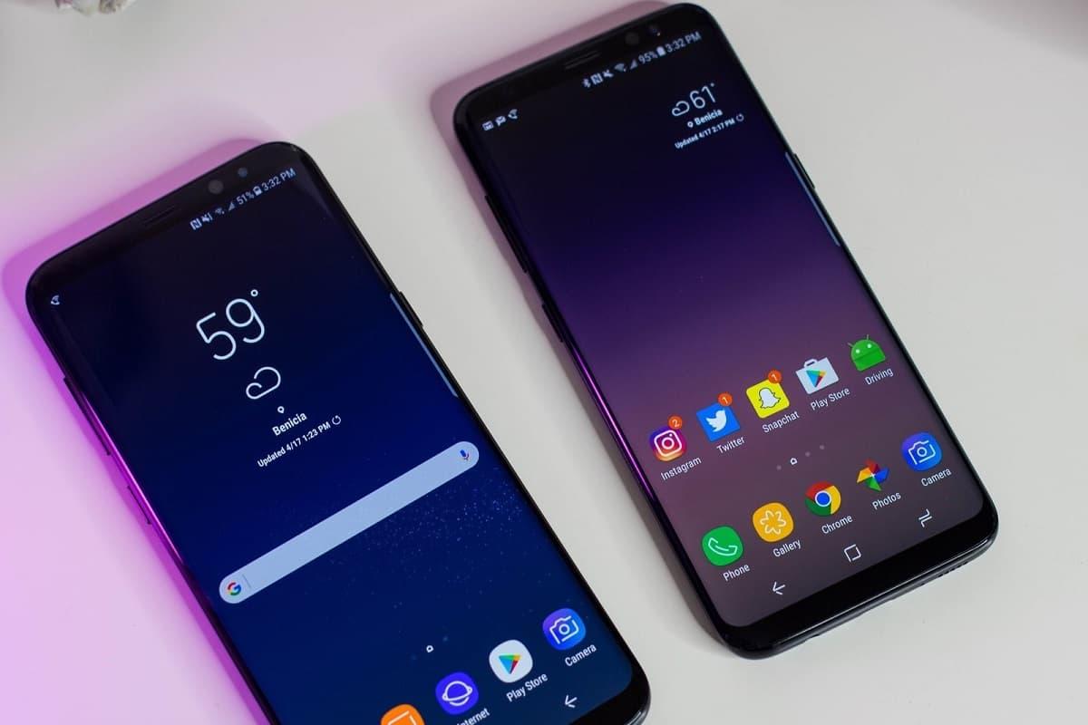 Samsung Galaxy S8 e S8 Plus frente