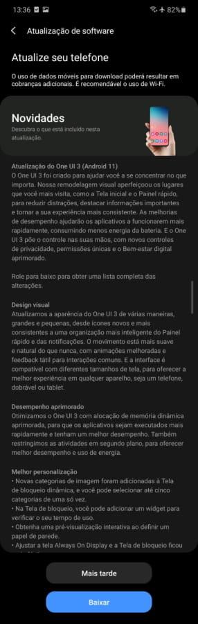 captura de tela android 11 s10 lite