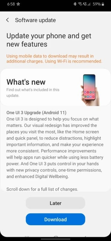 galaxy m30s one ui 3.0 android 11