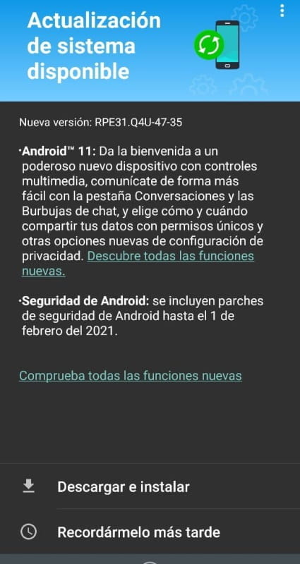 android 11 moto g8