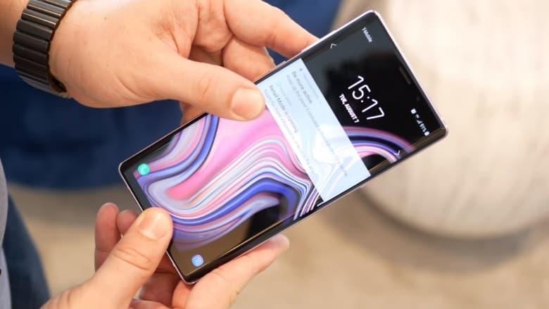 Galaxy Note 9 tela