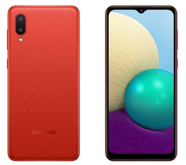 Galaxy A02 vermelho