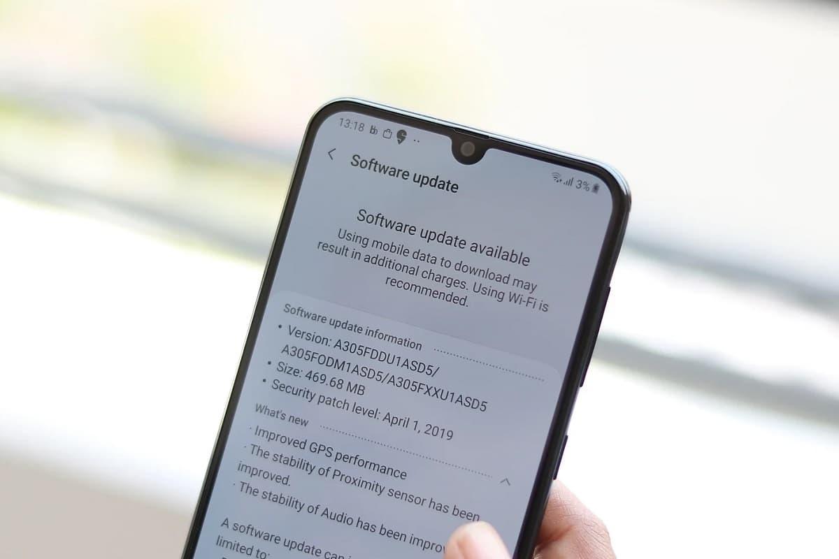Updates Galaxy A30