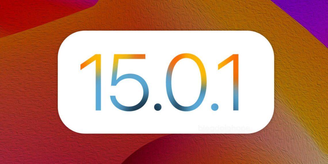 apple ios 15.0.1